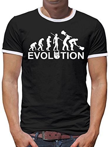 Kostüm Metal Heavy (TLM Evolution Heavy Metal Trash Kontrast T-Shirt Herren S)