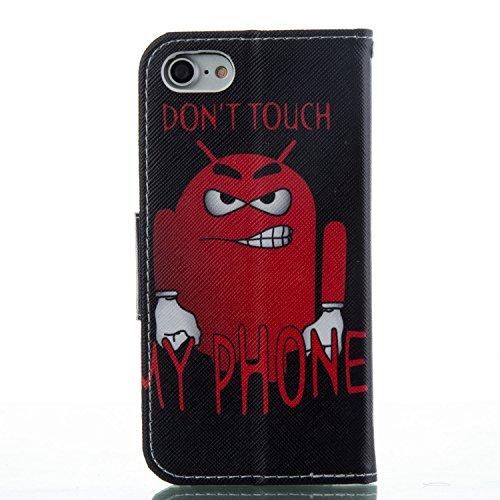 Voguecase Pour Apple iPhone 7 4,7 Coque, Étui en cuir synthétique chic avec fonction support pratique pour Apple iPhone 7 4,7 (forêt 02)de Gratuit stylet l'écran aléatoire universelle Monstre/my phone