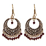 Ganapathy Gems Brass Plated Hoops With M...