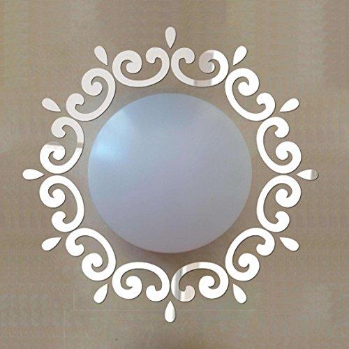Preisvergleich Produktbild 3D Wall Stickers, WYXlink Feather Spiegel Wand Dekoration Zimmer Aufkleber Kunst DIY scharf (c)