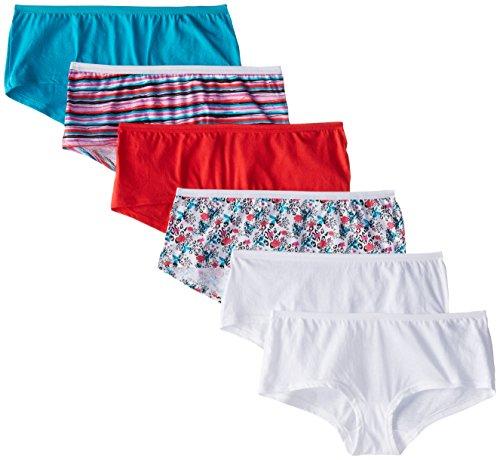 Fruit of the Loom Women's 6 Pack Assorted Cotton Boyshort Panties
