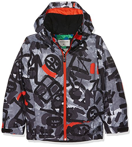 Quiksilver Jüngen Printed Youth JK Mission-Snow Jacket 8-16, Anthracite, 10/M (Quiksilver-herbst Jacke)
