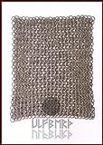 Ulfberth FWM Kettenstück Flachring mit Keilnieten vernietet, gemischt mit gestanzten Ringen 20x 20cm, ID8mm, unbehandelt