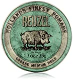 REUZEL Pomade Green Grease Medium Hold, 1er Pack (1 x 35 g)