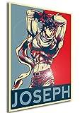 "Poster JoJo ""Propaganda"" Joseph (Battle Tendency) - Formato A3 (42x30 cm)"