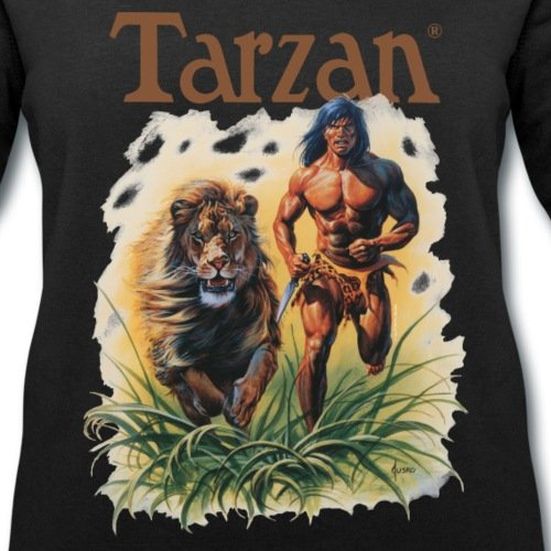 Tarzan Court Avec Lion Sauvage Sweat-shirt Femme Stanley & Stella de Spreadshirt® Noir