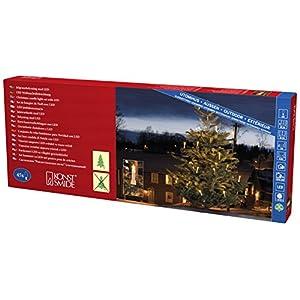 Konstsmide 1015 – 020 catena albero LED con/albero/per esterni (IP44) bianchi Certificato VDE/Trasformatore esterno 24 V/One String/45 diodi a luce bianca calda/cavo verde