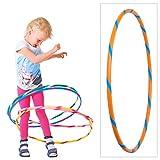 Hoopomania Bunter Hula Hoop für Kleine Profis Kinder Hula Hoop Reifen, Orange-Blau, Ø 70 cm, BKHH