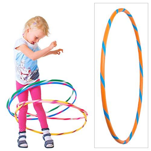 #Hoopomania Bunter Hula Hoop für Kleine Profis Kinder Hula Hoop Reifen, Orange-Blau, Ø 70 cm, BKHH#