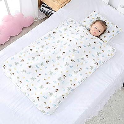 JYCRA - Saco de Dormir para bebé, diseño de Dibujos Animados, Manta Unisex con Almohada extraíble para guardería Preescolar