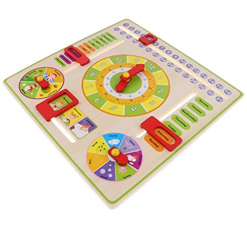 Montessori Calentario Reloj de Madera