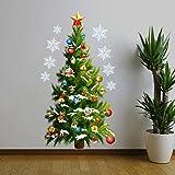 Weihnachten Wall Stickers AMUSTER Weihnachtssticker 2018 Merry Christmas Haus Zimmer wasserdichte Wandaufkleber Home Decor abnehmbar (A)