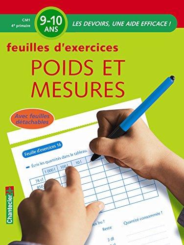 Feuilles d'exercices Poids et mesures Primaire CM1 : 9-10 ans