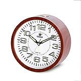 JIAHE115 Kunststoff Wecker Klingeln Wecker Kreative Schlafzimmer Einfache Retro Wecker Nacht Uhr Leuchtende Uhr (10,9 * 5,5 cm)