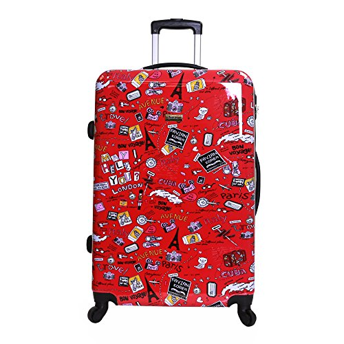 Karabar Dewberry Extra Large XL Lightweight Polycarbonate Hard Shell Suitcase, Cities