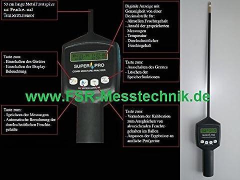 Moisture Meter Combined Temperature Humidity Moisture Meter Digital Hay Straw 1018