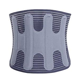 Einstellbare Lendenwirbelsäule Rückenstütze Hot Pressure Lordosenstütze Gürtel Vier Jahreszeiten Für Untere Rückenschmerzen Relief Mit Atmungsaktiven Mesh-Grau