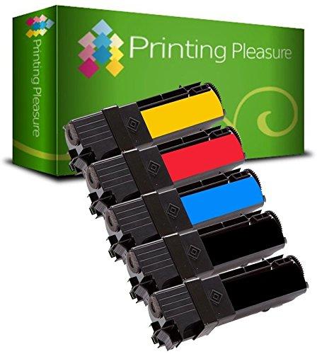 Xerox 106r01280 Laser Patrone (5 Toner kompatibel für Xerox Phaser 6130 N | 106R01281 106R01278 106R01279 106R01280)