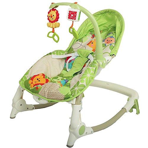 Webby Newborn To Toddler Portable Baby Rocker, Green