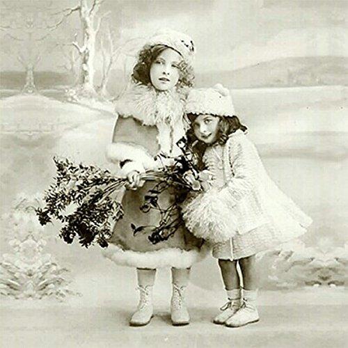 3 Stück Wintermütze (Weihnachten Vintage Servietten Winter Mützen 20 Stück 3-lagig 33x33cm)