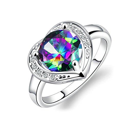 Blisfille Ring Silber Schlicht Ringe Damen Modeschmuck Gothic Ring Titanring Ringe Vergoldet Damen...