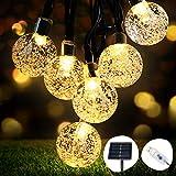 Catena Luminosa Solare, OMERIL 8M 50 LED Catena Luminosa con USB alimentata Aggiuntiva, IP65 Impermeabile e 8 Modalità Luci Stringa Solare per Natale, Feste, Cortili, Giardino, Interno&Esterno