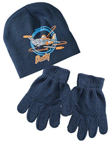 Bonnet et gants enfant garçon Dusty Planes Marine T52