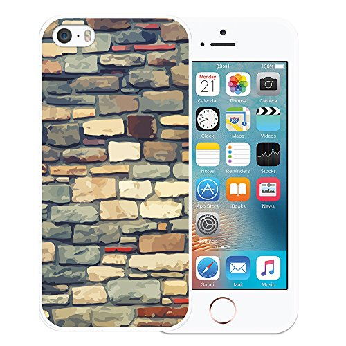 iPhone SE iPhone 5 5S Hülle, WoowCase Handyhülle Silikon für [ iPhone SE iPhone 5 5S ] Holzwand Handytasche Handy Cover Case Schutzhülle Flexible TPU - Transparent Housse Gel iPhone SE iPhone 5 5S Transparent D0121