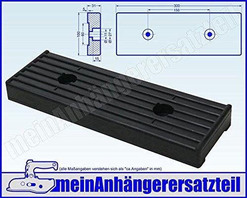 Gummipuffer für Bugauflage Bugstütze für Bootsanhänger Bootstrailer 300x100x31mm