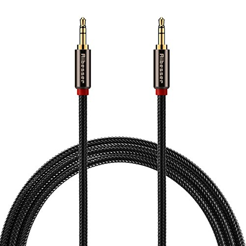 Aibesser 3.5mm Cable,Universal 6 Feet Audio Stereo Cable for Phone, Ipad, Home /car Stereos and Computer Devices (Black)