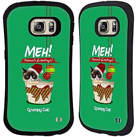 Ufficiale Grumpy Cat Saluti Natalizi Natale Case Ibrida per Samsung Galaxy S6 edge+ / Plus - Saluto Edge Design