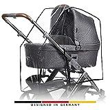 ABC Design Universal Rundum-Regenschutz, für alle Kinderwagen universal verwendbar, passend für Babywanne und Sportsitz, windsicher, schadstofffrei, mit guter Luftzirkulation, einfaches Handling