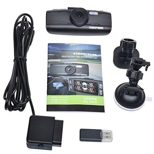 Toguard 1080P in truck Dash Cam Dashboard Camera utilizing OBD DiagnosisSpeed RPM loggerH26427 LCDMotion DetectionWDRLoop RecordingParking MonitorG Sensor Vehicle Backup Cameras