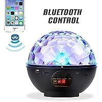 Besmall Portable Bluetooth Mp3 RGB scène éclairage LED USB connecteur haut-parleurs boule disco avec télécommande 2 en 1 Audio Cable