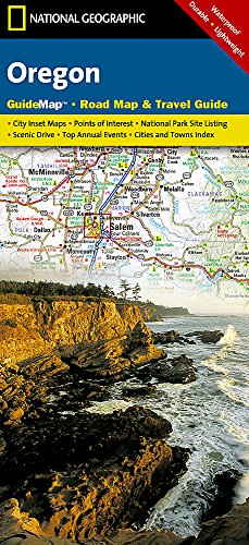 Oregon: National Geographic Guide Map: NG.GM32.00620390