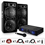 Set DJ-20 2000W amplificatore casse microfono cavi