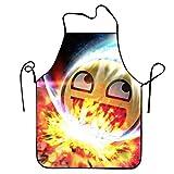 Zhixiapeu Unisex Custom Schürzen Space Awesome Face Wasserdicht Schürzen mit Verstellbarem Küche Kochen und Lätzchen BBQ Schürze, Polyester, Space Awesome Face1, Einheitsgröße
