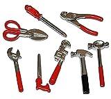 Miniatur 8 tlg. Set Werkzeug - für Puppenstube Maßstab 1:12 - für Werkzeuge Puppenhaus Puppenküche Werkzeugkasten