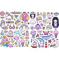 Girls Unicorn Stickers Girls Kids Laptop Children Scrapbook Diary Album Decals Daycare mermaid sticker bomb doodle art
