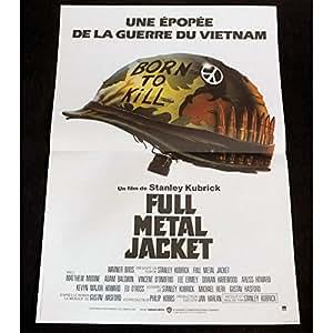 FULL METAL JACKET Affiche de film 40x60 FR 87 - Matthew Modine, Stanley Kubrick