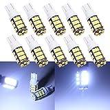 Grandview 10pcs 501W5W 1681942825921de alta potencia LED bombillas de frío T1042-SMD 1206LED para interior de coche, salpicadero número placa, para bombillas