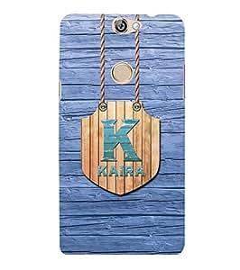 YuBingo Designer Printed Plastic Mobile Back Case Cover Panel for Coolpad Max ( Name Surname Kaira (Wood Finish Printed on Plastic) )