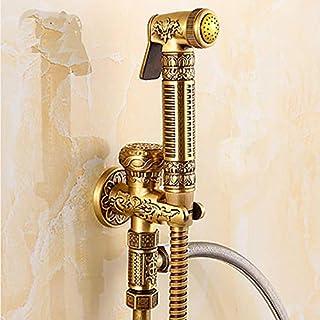 Ayhuir Bathroom Sink Faucet - Hand Shower, Including Bronze Shower, Single Handle, Single Hole Faucet