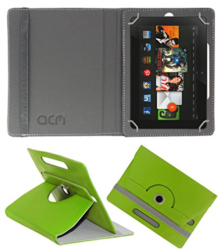 Acm Rotating 360° Leather Flip Case for Amazon kindle Fire Hdx 8.9 Cover Stand Green  available at amazon for Rs.179