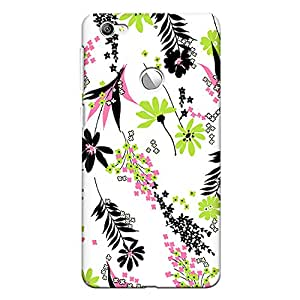 CrazyInk Premium 3D Back Cover for Leeco Le 1S - Flower & Leaf Vector