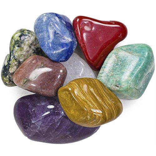 Hypnotic Gems Natur Trommelstein Mix–Verkauft durch die Anzahl der Pcs–0,6cm, 6,3cm Größen erhältlich #G: XXLarge #A: 25 Pc Bag