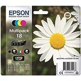 Epson Claria Home Serie 18 Cartucce Inchiostro, Multipack 4 Colori, Formato Standard, Nero, Ciano, Magenta, Giallo,Cartuccia