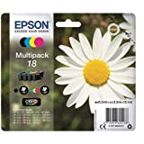 Epson 18 Serie Margherita C13T18064010, Cartuccia Originale, Standard, Multipack, 4 Colori, con Amazon Dash Replenishment Ready