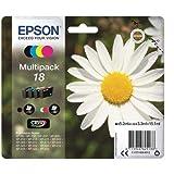 Epson Original T1806 Tintenpatrone Gänseblümchen, Claria Home Tinte, Text- und Fotodruck (Multipack, 4-farbig) (CYMK)