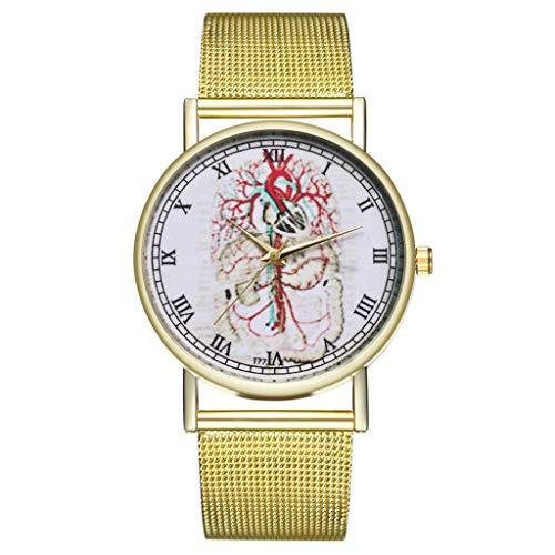 IG Invictus Vintage Ladies Round Mesh Strap Watch Quartz Fashion Watch Quarzmaschengürtel Modeuhr T72 W MIT Mode, Uhren, Quarz -
